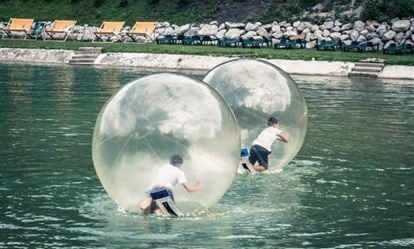 Winter Water Zorbing Experience for Two 1