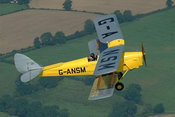 30 Minute Bi-Plane Pilot Lesson  For ONE 1