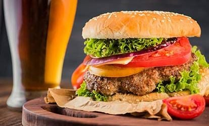 Gourmet Burger Meal and a Craft Beer for Two 1