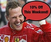 10% Discount to celebrate Schumachers 300th F1GP