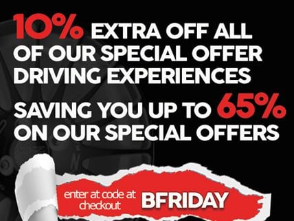 BLACK FRIDAY DEALS ON ALL DRIVING EXPERIENCES