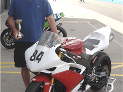3rd place at Donington Park for Trackdays' Mark Rusted