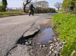 Riders beware… poor road surfaces cause more than 500 road accidents