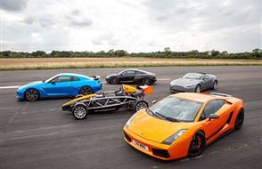 Five Supercar Thrill with High Speed Passenger Ride Experience from Trackdays.co.uk