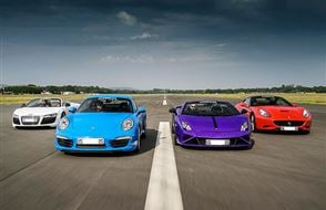 Four Supercar Blast with High Speed Passenger Ride Experience from Trackdays.co.uk