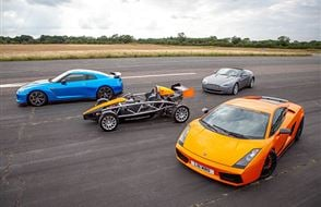 Four Supercar Thrill with High Speed Passenger Ride Experience from Trackdays.co.uk