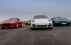 Junior Four Supercar High Speed Passenger Ride (2 miles) Experience from Trackdays.co.uk