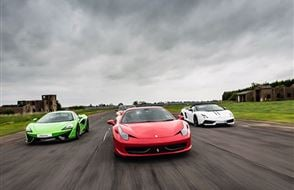 Junior Three Supercar High Speed Passenger Ride (2 miles) Experience from Trackdays.co.uk
