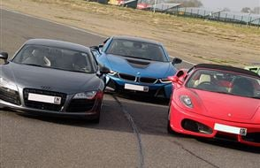 Triple Supercar Thrill Experience from Trackdays.co.uk