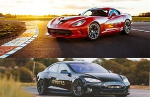 Tesla P90 vs Dodge Viper Experience Experience from Trackdays.co.uk
