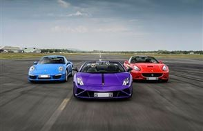Triple Supercar Thrill with High Speed Passenger Ride Experience from Trackdays.co.uk