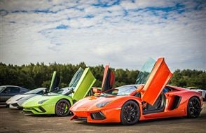 Triple Lamborghini Thrill with High Speed Passenger Ride Experience from Trackdays.co.uk