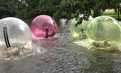 Winter Water Zorbing Experience for Four 1