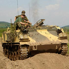 Military Tank Driving