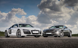 Audi R8 vs Aston Martin Experience from Trackdays.co.uk