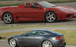 Ferrari v Aston Martin and Hot Laps Experience from Trackdays.co.uk