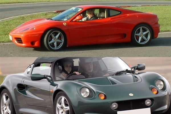 Ferrari v Lotus Elise and Hot Laps Driving Experience 1